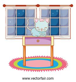 cute kitty cat cartoon