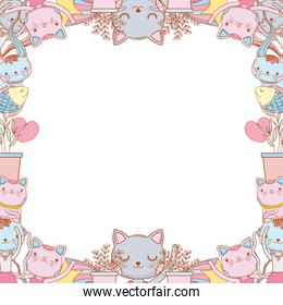 kitty cats border template