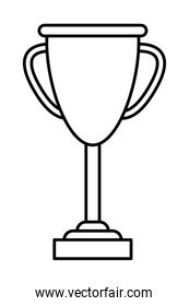 sport trophy championship in black and white