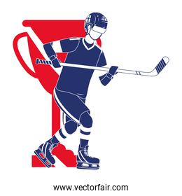 player hockey gear and equipment