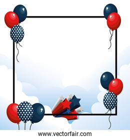 United states balloons design