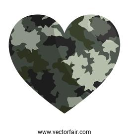 Military camouflage heart design