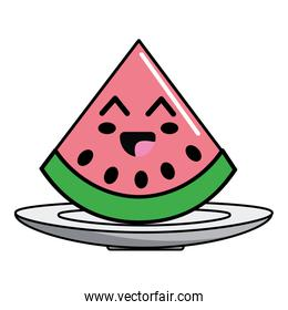 Isolated watermelon fruit design