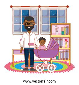 Father with baby design