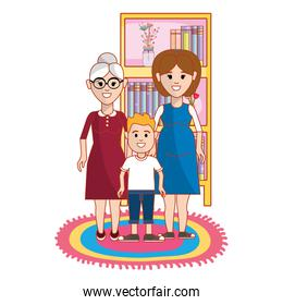 Grandmother mother and son design