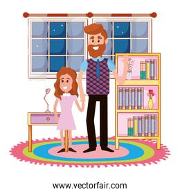 Father with daughter design