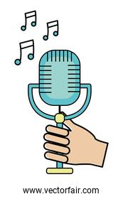 music microphone cartoon