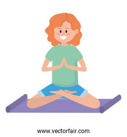 fit woman practicing yoga