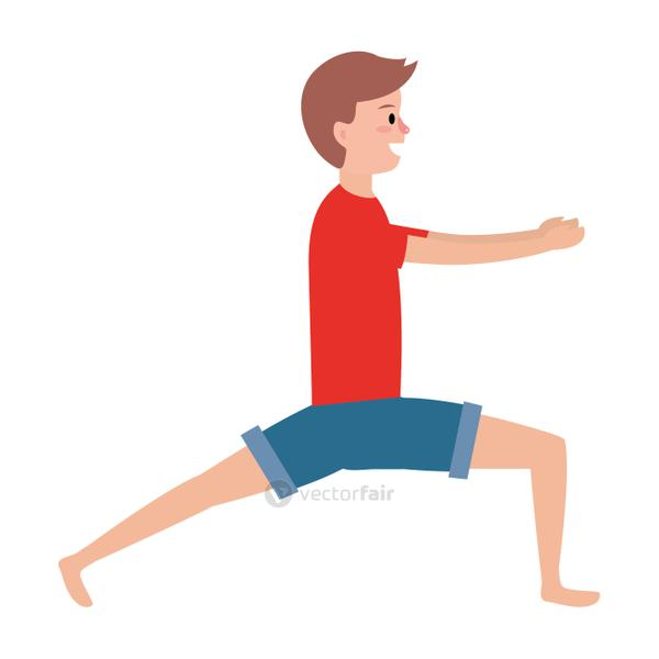 fit man practicing yoga