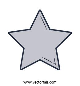 star of gray color isolated icon