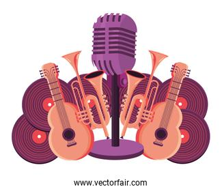 microphone and instruments
