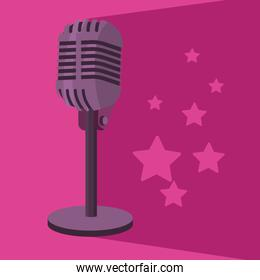 microphone with star
