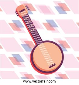 guitar isolated icon