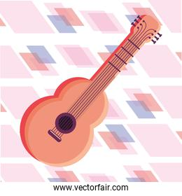 guitar instrument isolated icon