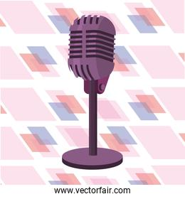 microphone isolated icon