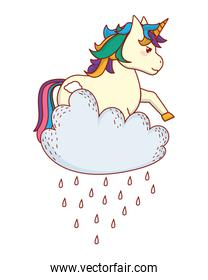 unicorn with clouds
