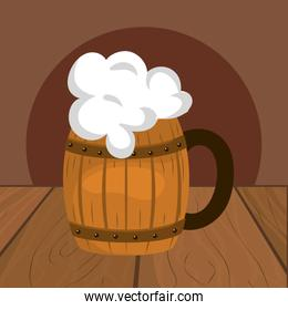 beer in a barrel