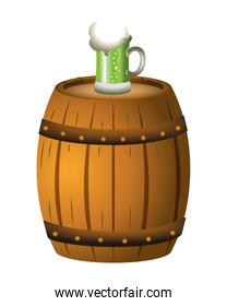 green beer barrel