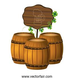 beer barrel wooden sign