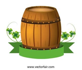 beer barrel wooden banner