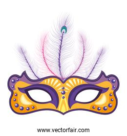 mask with feather