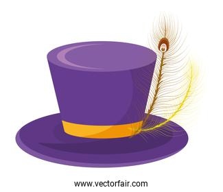 top hat with feather