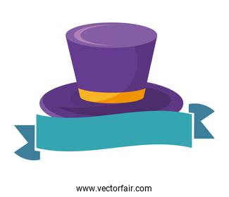 top hat with ribbon
