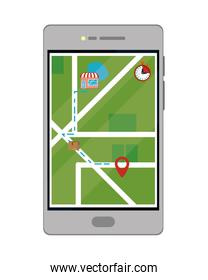 Online delivery with smartphone