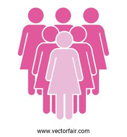women pictogram cartoon