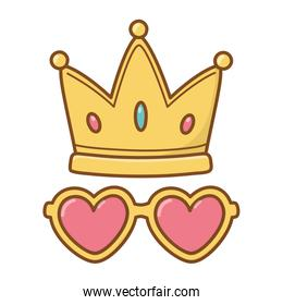 crown and heart sunglasses