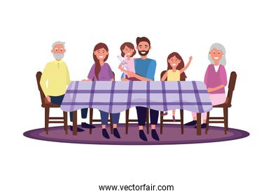 family in the table