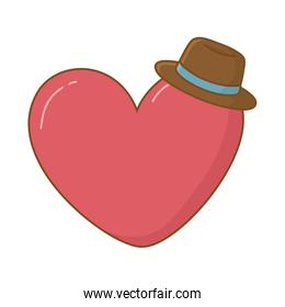 heart and hat