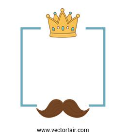 crown and moustache frame
