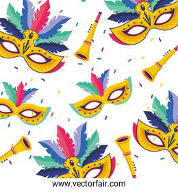 brazil carnival pattern vector illustration