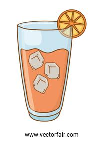 cold alcohol drink vector illustration
