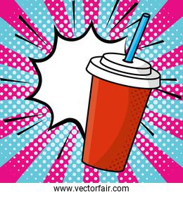 soda paper cup vector illustration