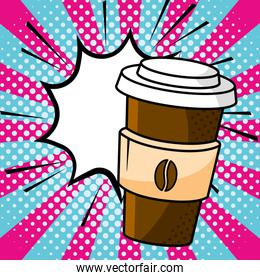coffee paper cup vector illustration