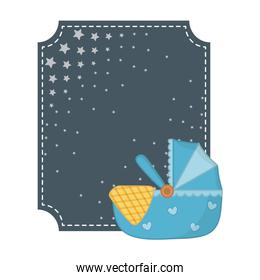 square frame and cradle vector illustration