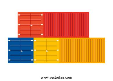 cargo containers icon vector illustration