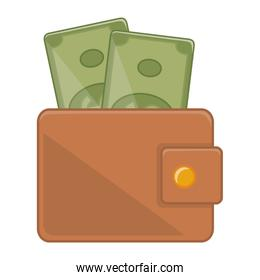 Isolated wallet design vector illustration