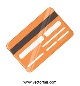 Isolated credit card design vector illustration