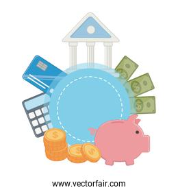 Isolated bank design vector illustration