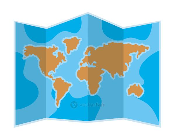 Isolated map design vector illustration