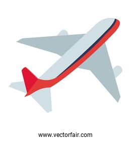 Isolated airplane design vector illustration