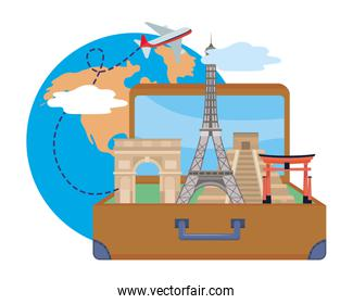 Landmark and travel design vector illustration