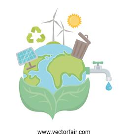 Icon set and save planet design