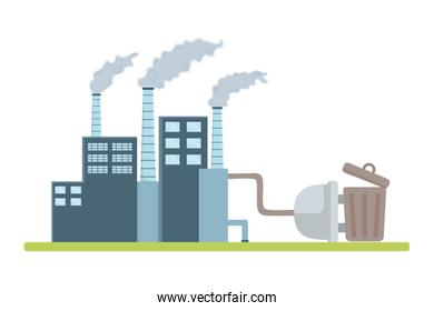Eco factory and save planet design