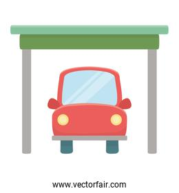 Isolated red car design vector illustration
