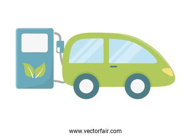 Car with bio and natural fuel design