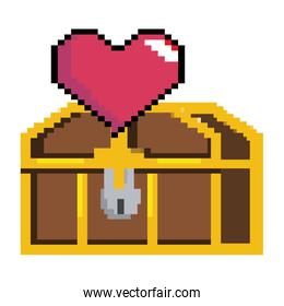Isolated treasure chest design vector illustration